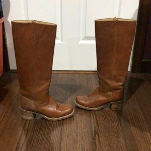 Vtg Frye chestnut Campus Tall boho pull on boots